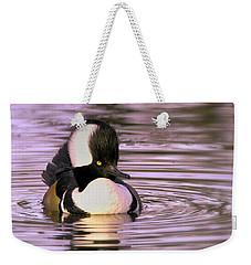 Hooded Merganser Weekender Tote Bag