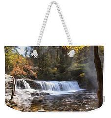 Hooker Falls Weekender Tote Bag by Ricky Dean
