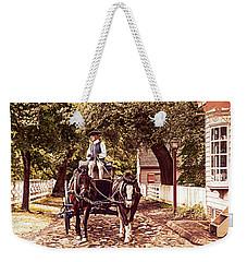 Horse Drawn Wagon Weekender Tote Bag