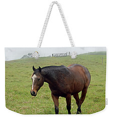 Horse In The Fog Weekender Tote Bag by Pamela Walton