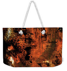 Hot Desert Night - Abstract Landscape Desert Painting Weekender Tote Bag