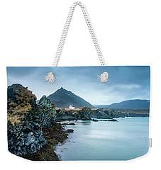 House On Ocean Cliff In Iceland Weekender Tote Bag by Joe Belanger
