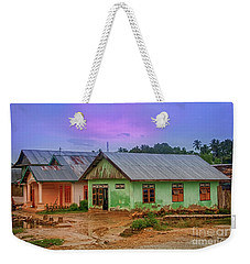 Weekender Tote Bag featuring the photograph Houses by Charuhas Images