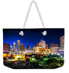 Weekender Tote Bag featuring the photograph Houston City Lights by David Morefield