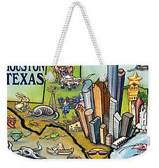 Houston Texas Cartoon Map Weekender Tote Bag