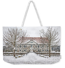 Hovdala Castle Main House In Winter Weekender Tote Bag