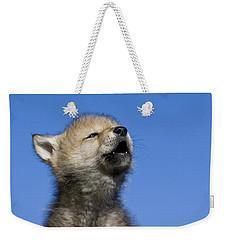 Howling Wolf Cub Weekender Tote Bag