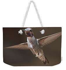 Hummingbird Anna's In Flight Weekender Tote Bag