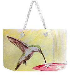 Weekender Tote Bag featuring the painting Hummingbird by Stacy C Bottoms