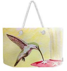 Hummingbird Weekender Tote Bag by Stacy C Bottoms