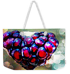 Weekender Tote Bag featuring the painting I Heart You by Genevieve Esson