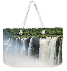 Weekender Tote Bag featuring the photograph Iguazu Falls by Silvia Bruno