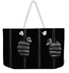 Weekender Tote Bag featuring the photograph In Prison by Chevy Fleet