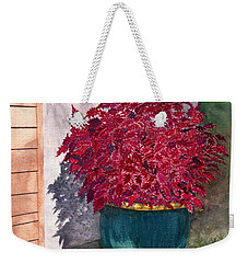 Weekender Tote Bag featuring the painting In The Morning by Melly Terpening