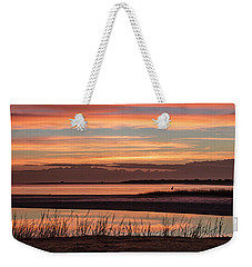 Weekender Tote Bag featuring the photograph Inlet Watch Sunrise by Phil Mancuso