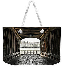 Weekender Tote Bag featuring the photograph Inside The Covered Bridge by Joanne Coyle