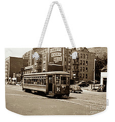 Weekender Tote Bag featuring the photograph Inwood Trolley by Cole Thompson