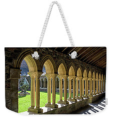 Weekender Tote Bag featuring the photograph Iona Abbey Scotland by Jacqi Elmslie