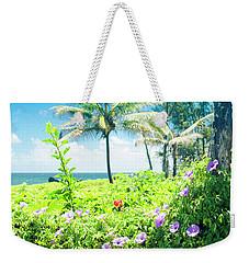 Weekender Tote Bag featuring the photograph Ipomoea Keanae Morning Glory Maui Hawaii by Sharon Mau
