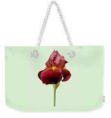 Iris Vitafire Green Background Weekender Tote Bag