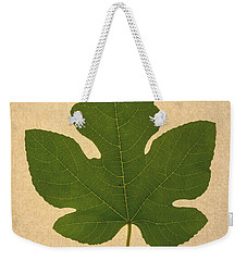Weekender Tote Bag featuring the photograph Italian Honey Fig Leaf by Frank Wilson