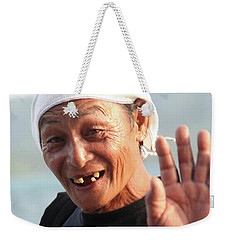 Weekender Tote Bag featuring the photograph It's All I Have by Jez C Self