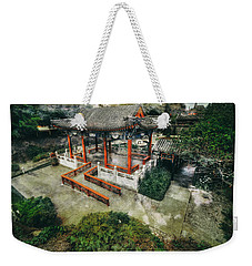 Weekender Tote Bag featuring the photograph Jade Garden by Wayne Sherriff