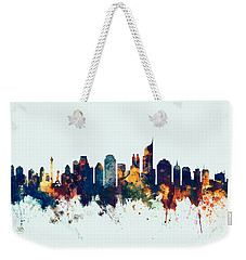 Jakarta Skyline Indonesia Bombay Weekender Tote Bag by Michael Tompsett