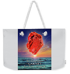 January Birthstone Garnet Weekender Tote Bag