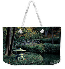 Weekender Tote Bag featuring the photograph Japanese Garden In Summer by Iris Greenwell