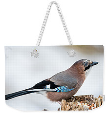 Jay In Profile Weekender Tote Bag by Torbjorn Swenelius