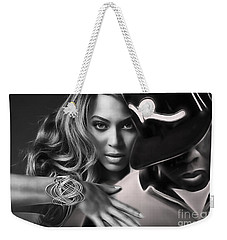 Jay Z Beyonce Collection Weekender Tote Bag by Marvin Blaine