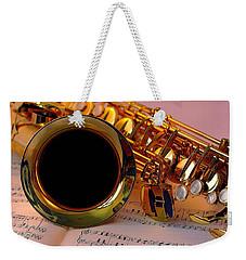 Jazz Saxaphone Weekender Tote Bag