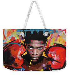 Weekender Tote Bag featuring the painting Jean Michel Basquiat by Richard Day