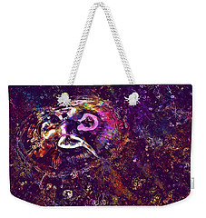 Weekender Tote Bag featuring the digital art Jellyfish North Sea Beach Mollusk  by PixBreak Art