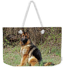Weekender Tote Bag featuring the photograph Jessy by Sandy Keeton