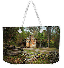 John Oliver Cabin Cades Cove Weekender Tote Bag by Lena Auxier