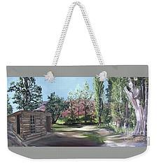Josie's Cabin Weekender Tote Bag