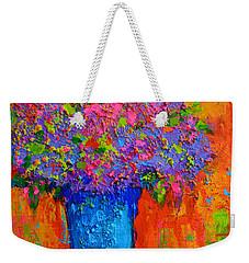 Joyful Perfection - Modern Impressionist Art - Palette Knife Work Weekender Tote Bag