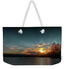 June Sunset On Nicks Lake Weekender Tote Bag by David Patterson
