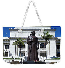 Serra At City Hall Weekender Tote Bag by Mary Ellen Frazee