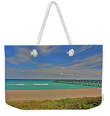 Weekender Tote Bag featuring the photograph 1- Juno Beach Pier by Joseph Keane