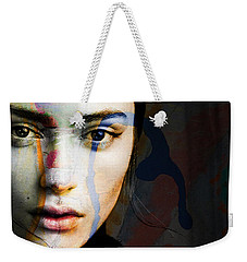 Weekender Tote Bag featuring the mixed media Just Like A Woman by Paul Lovering