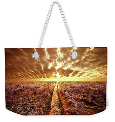 Weekender Tote Bag featuring the photograph Just Over The Horizon by Phil Koch