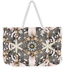 Weekender Tote Bag featuring the digital art Kaleidoscope 97 by Ron Bissett