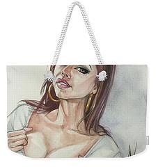 Keisha Grey Weekender Tote Bag