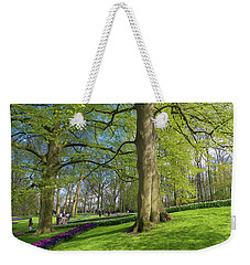Weekender Tote Bag featuring the photograph Keukenhof Gardens In Lisse, Netherlands by Hans Engbers