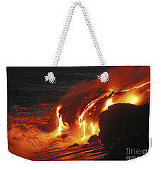Kilauea Lava Flow Sea Entry, Big Weekender Tote Bag