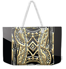 King Of Spades In Gold On Black   Weekender Tote Bag