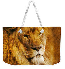 King Of The Beasts Weekender Tote Bag by Ian Mitchell